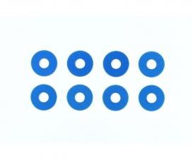 TRF Alu Distanzscheiben 0,75 mm blau (8)