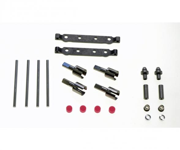 TT-02-S Steel Suuspension Mount Set F/R