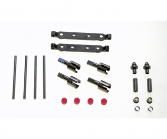 TT-02S Steel Suuspension Mount Set F/R