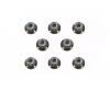 4mm Flange Lock Nut Bla (8)