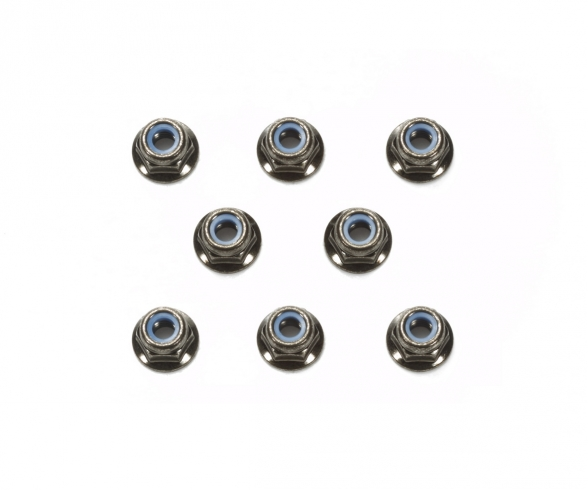 4mm Flange Lock Nut Bla *8