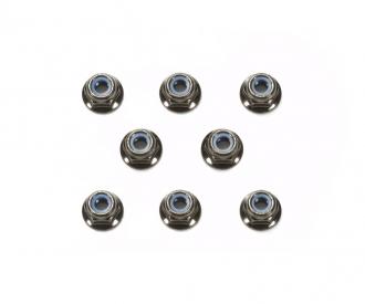 4mm Flange Lock Nut Bla *8