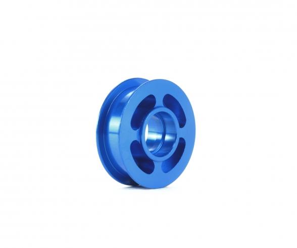 TA07 Alu Umlenkrolle Blau elox.