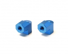 TA-07 Aluminum Motor Mt Posts (2) blue