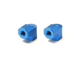TA-07 Aluminum Motor Mt Posts (2) blue