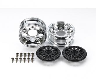 2-Piece Mesh Wheels (2) Black