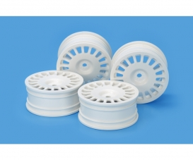 1:10 RallyDish Wheels 0 Whi *4 24mm