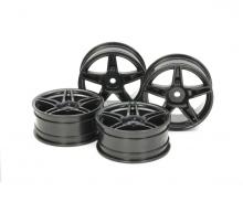 1:10 Twin5spk Wheels +2 Bla *4 24mm