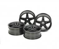 24mm Twin5spk Wheels +2 Bla *4