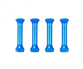 M-08 Alu Chassisverbinder Set (4) Blau