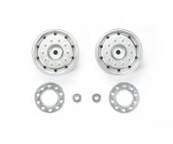 1:14 Trailer Wheels 30mm Hex(2)Flat Chro
