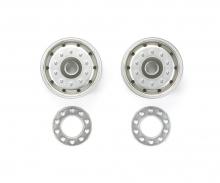 1:14 Trailer Wheels 30mm BB (2)Flat Chro
