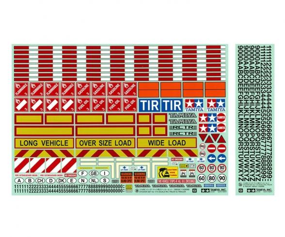 1:14 Warndekor für LKWs/Auflieger