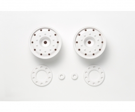 1:14 Wheels (30mm/Hex/Whi) (2) white