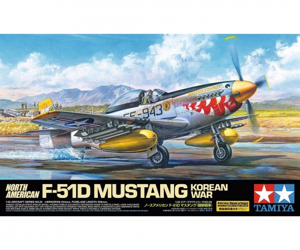 1:32 N.A. F-51D Mustang Korean War