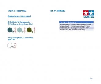 1:48 Dt. V-1 Fiseler Fi103