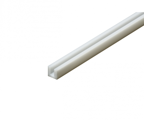 Plastic Beams 3mm U (5) white