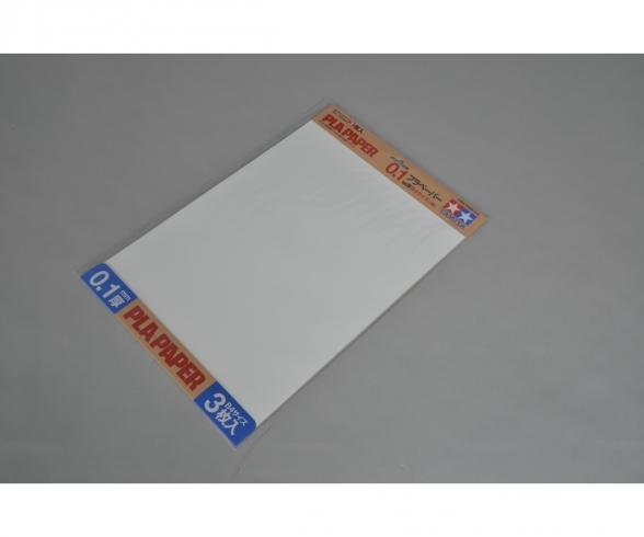 Kst-Platte 0,1mm (3) weiß 257x364mm