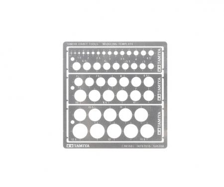 Modeling Kreis Schablone PE (3) 1-12,5mm