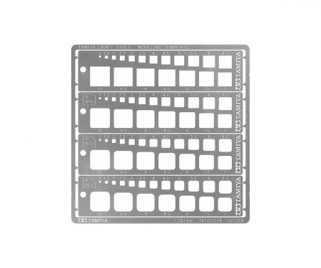 Modeling Quadrat Schablone 1-10mm (4) PE