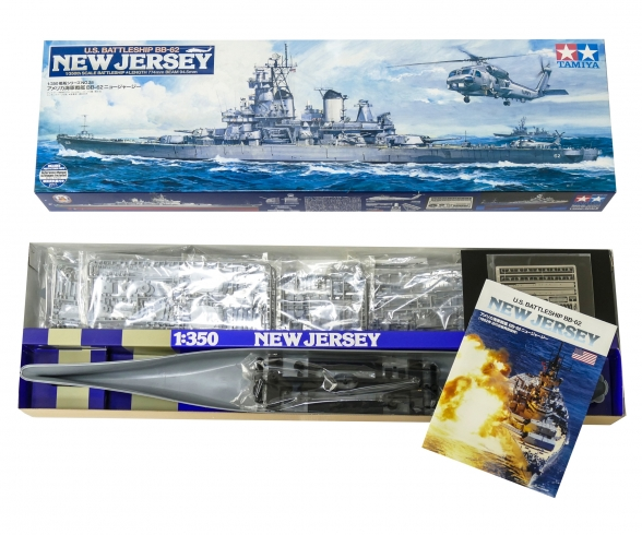1:350 US Kampfschiff New Jersey BB-62
