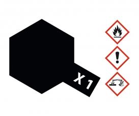 X -1 Schwarz glänzend 23 ml