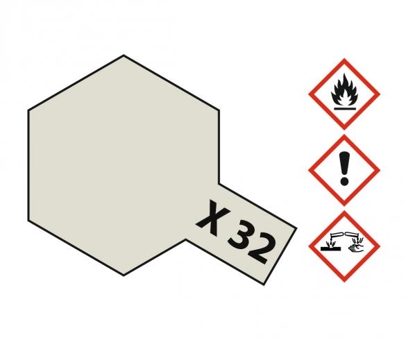 X-32 Titanium Silver Gloss 23ml