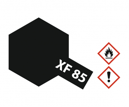 XF-85 Flat Rubber black 10ml Acrylic (6)