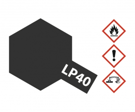LP-40 Metallic-Schwarz glzd. 10ml (VE6)