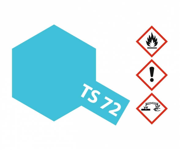 TS-72 Blau Transpar./Klar glänz. 100ml