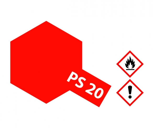 PS-20 Neon Rot Polycarbonat 100ml