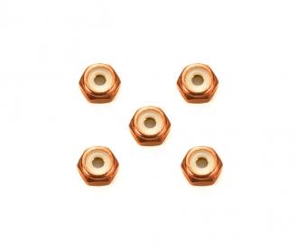 2mm Alu. Lock Nut Orange*5