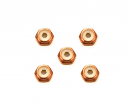 2mm Alu. Lock Nut Orange*5