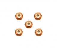 2mm Alu. Lock Nut Ora*5