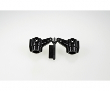 TA01/DF01 Achsschenkel (2) vorne schwarz