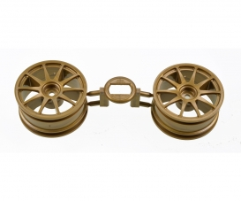 1:10 10-Speichen-Felgen gold 26mm (2)