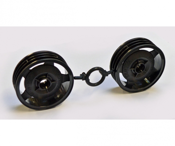 Front Wheels (2) Blk 58628