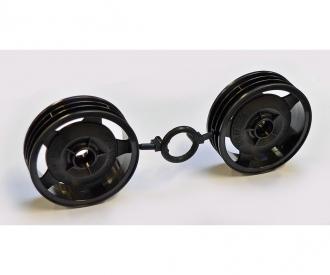 Front Wheels (2) Blk 58628