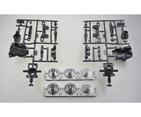 TT-02/D A-Teile Achsschenkel vorne (2)