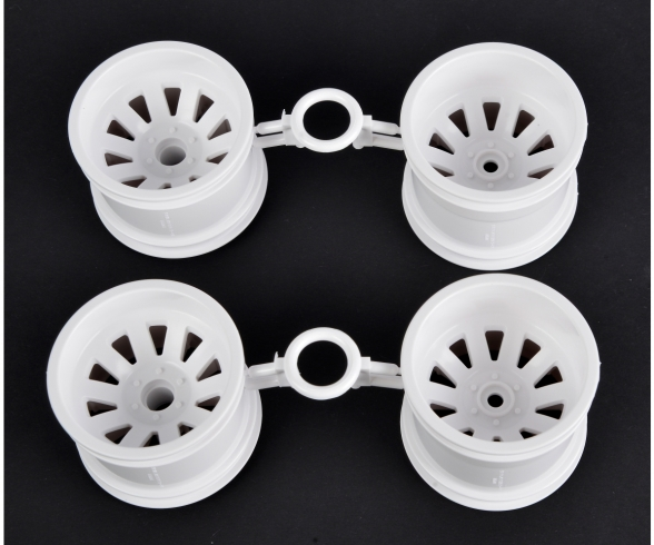 DT03T/St.Blitzer Wheel Set white (2+2)