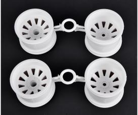 DT03T/St.Blitzer Wheel Set white (2+2)