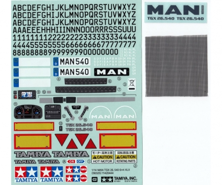 Sticker MAN TGX 26.540 Ver.II