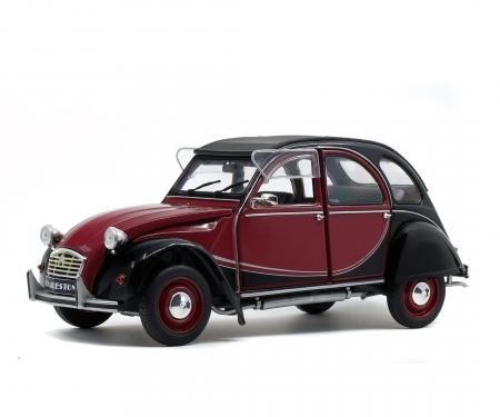 1:18 Citroën 2CV6 Charleston, darkred/black