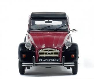 1:18 Citroën 2CV6 Charleston, weinrot/schwarz