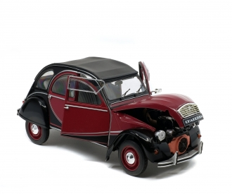1:18 Citroën 2CV6 Charleston, darkred/black