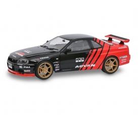 1:18 Nissan R34 GTR schwarz