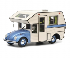 VW Kaefer Motorhome, blue 1:18