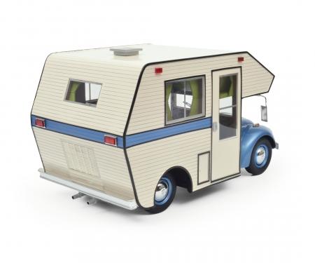 "VW Käfer ""Motorhome"", blue, 1:18"