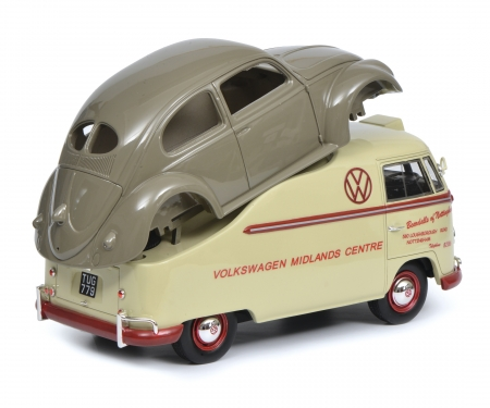 "VW T1a ""Midlands Centre"" wiht beetle chassis, 1:18"