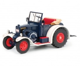 Lanz Eilbulldog, blue white, 1:18